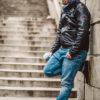 komin jeans / szary lisy