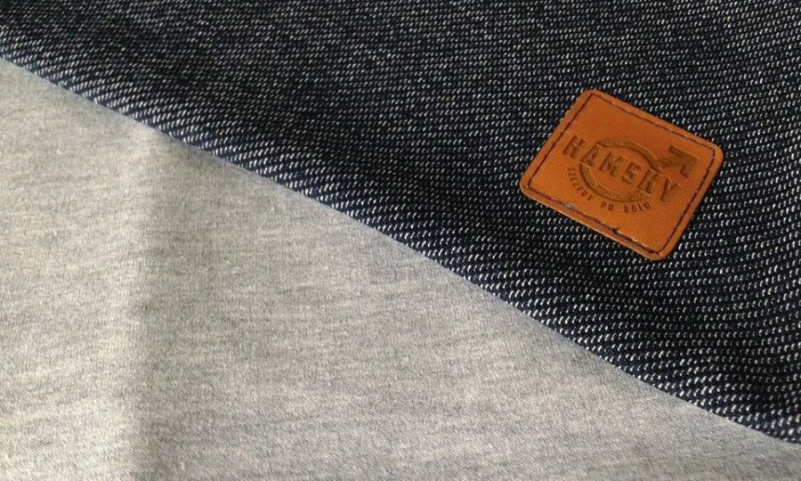 komin jeans / szary